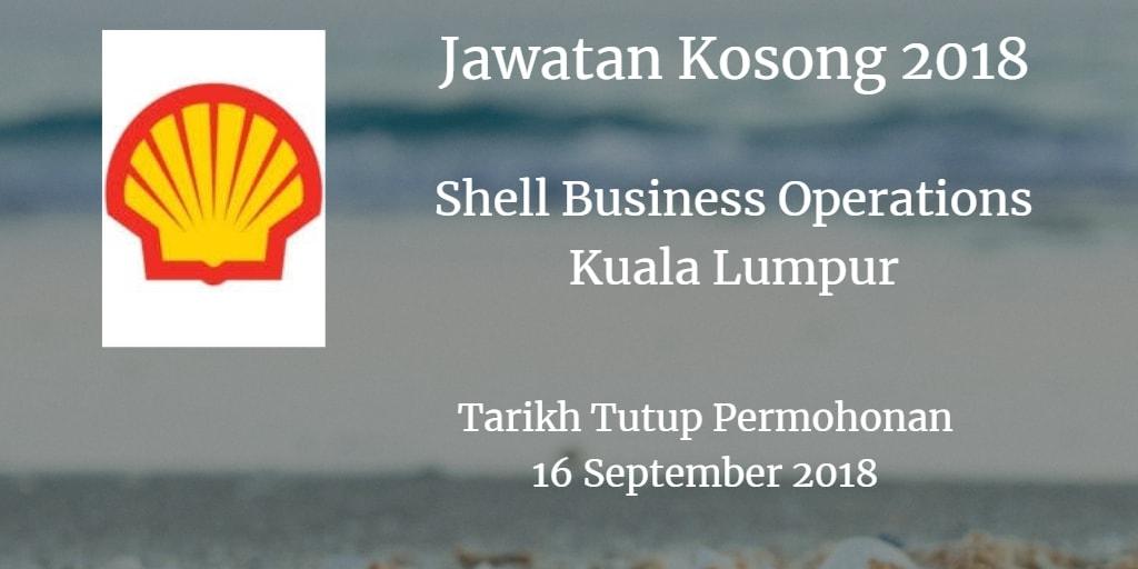 Jawatan Kosong Shell Business Operations Kuala Lumpur 16 September 2018