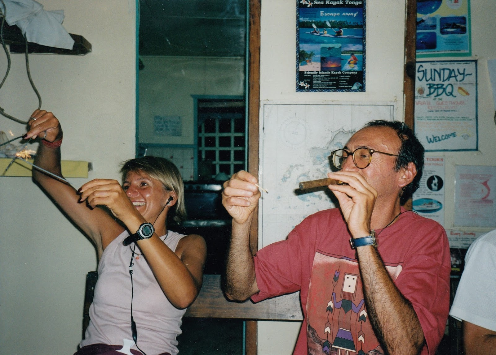 Tonga, where we brought in the New Millennium with sparklers and cigars