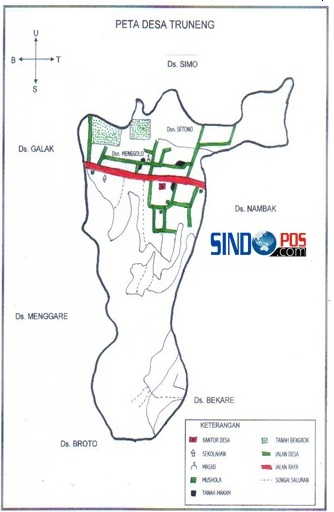 Profil Desa & Kelurahan, Desa Truneng Kecamatan Slahung Kabupaten Ponorogo