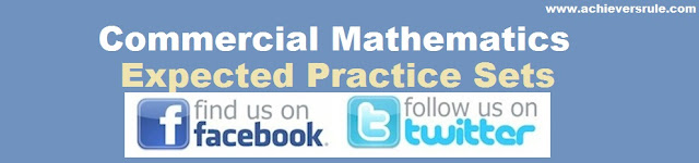 Commercial Mathematics Practice Sets
