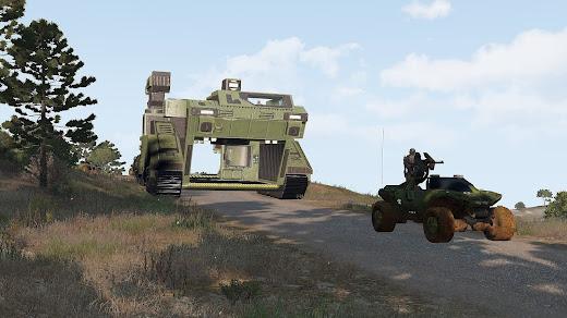 Arma3用HALO MOD 輸送車両