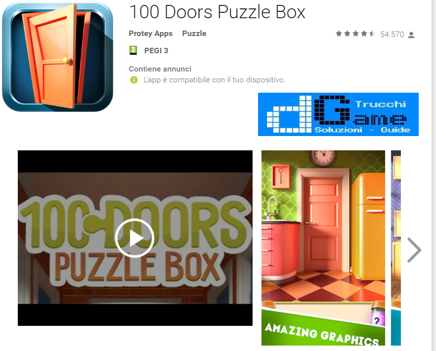Soluzioni 100 Doors Puzzle Box livello 71 72 73 74 75 76 77 78 79 80 | Trucchi e Walkthrough level