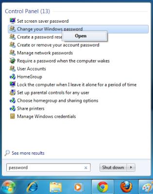 Cara Memberi Password Pada Komputer atau Laptop