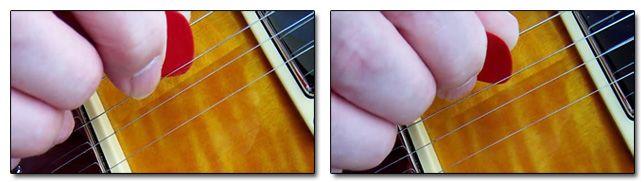Diferentes Formas de Pulsar las Cuerdas de la Guitarra con la Púa