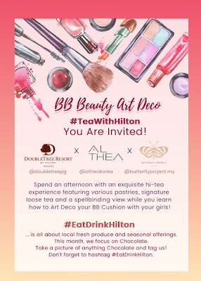 BB BEAUTY ART DECO BERSAMA THE BUTTERFLY PROJECT DI DOUBLE TREE RESORT BY HILTON PENANG