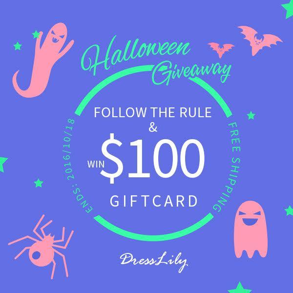 Sorteio Dresslily Halloween, $100 em compras!, dresslily