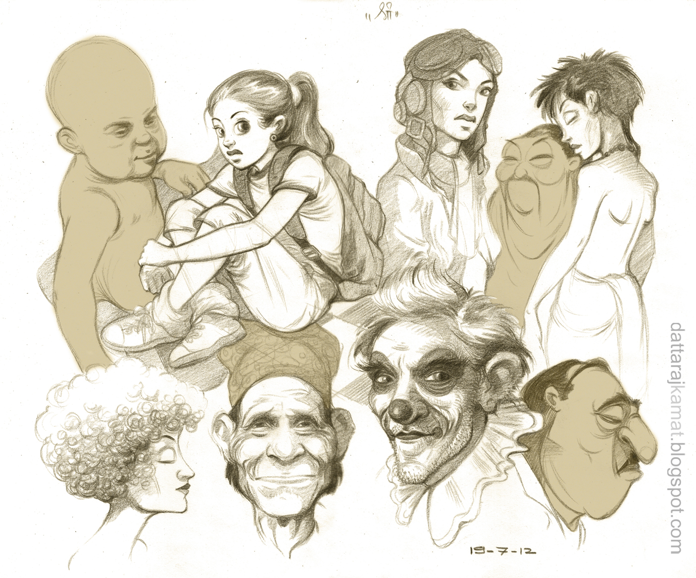 Character Design From Life Drawing : Dattaraj kamat animation art today s sketches