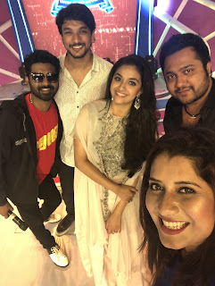 Keerthy Suresh in White with Cute Smile in Rohini Engineering College