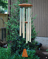 silver wind chimes image