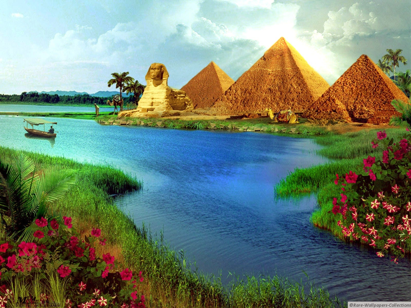 Rare Wallpaper Collections Egyptian pyramid Art wallpaper