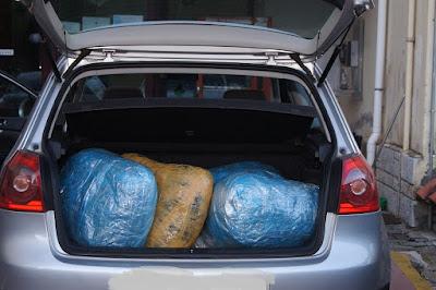 Συνελήφθησαν δύο άτομα με 104 κιλά κάνναβης