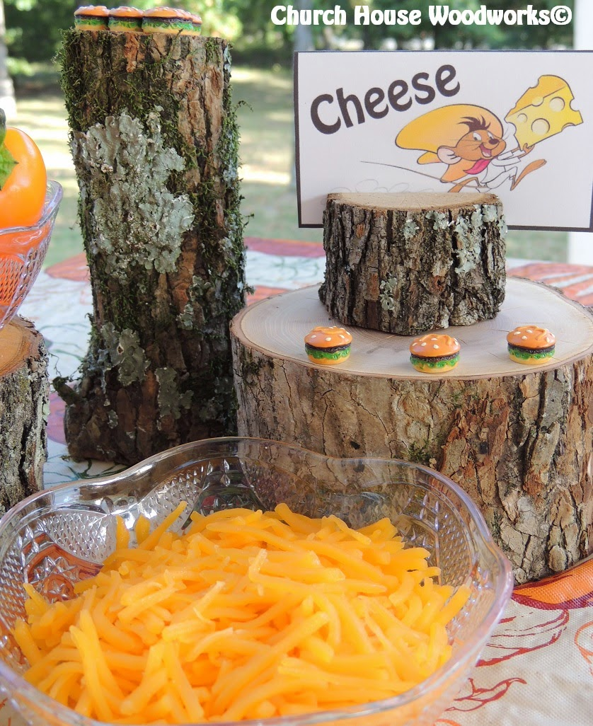 Rustic Mexican Wedding: Food Rustic Tree Branch Card Holders: Speedy Gonzales