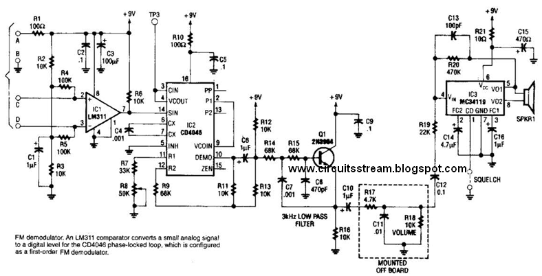 simple fm demodulator circuit diagram