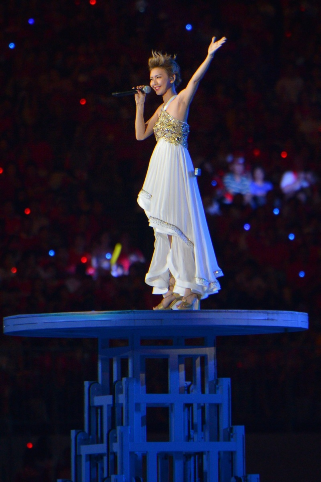 Stefanie Sun performing during NDP 2015