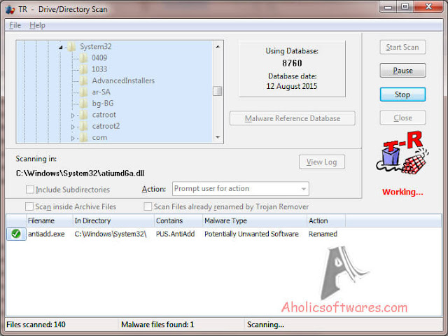 Trojan Remover is a malware removal utility that can detect and remove various types of malware such as Trojans, worms, spyware and adware.