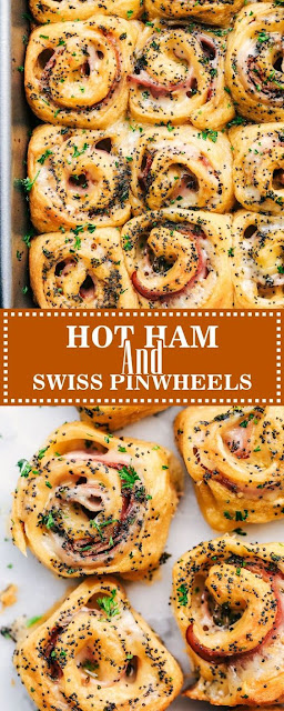 HOT HAM AND SWISS PINWHEELS