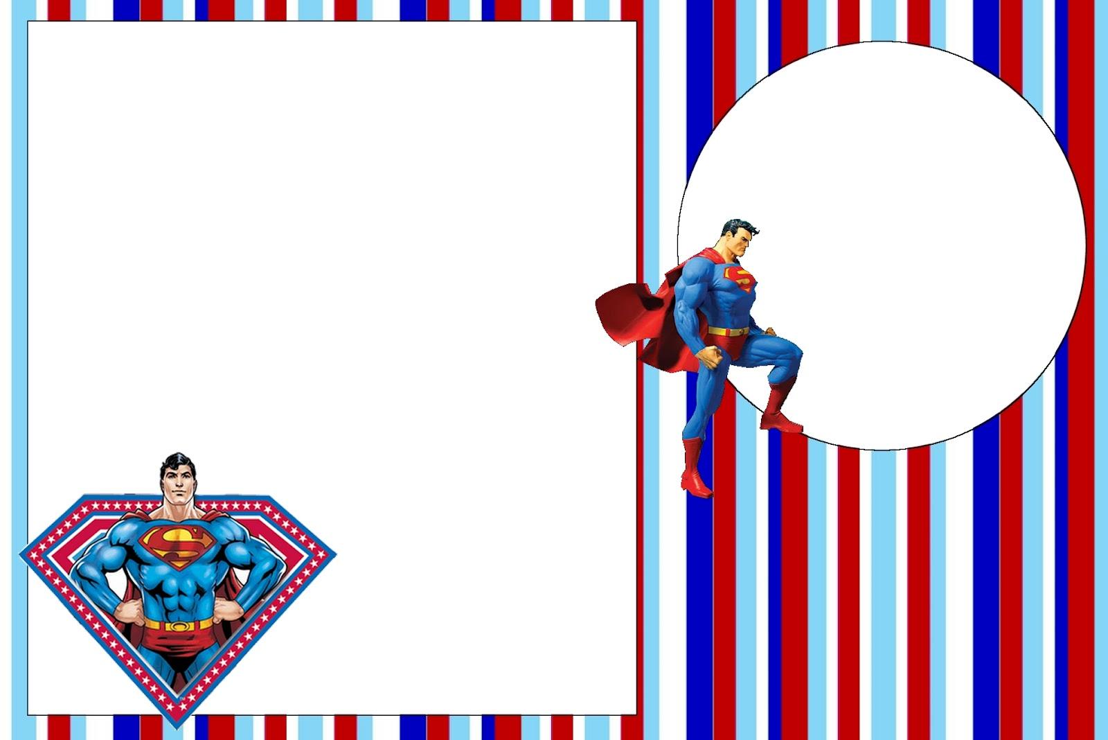 Superman Free Printable Invitations. - Oh My Fiesta! in english Regarding Superman Birthday Card Template