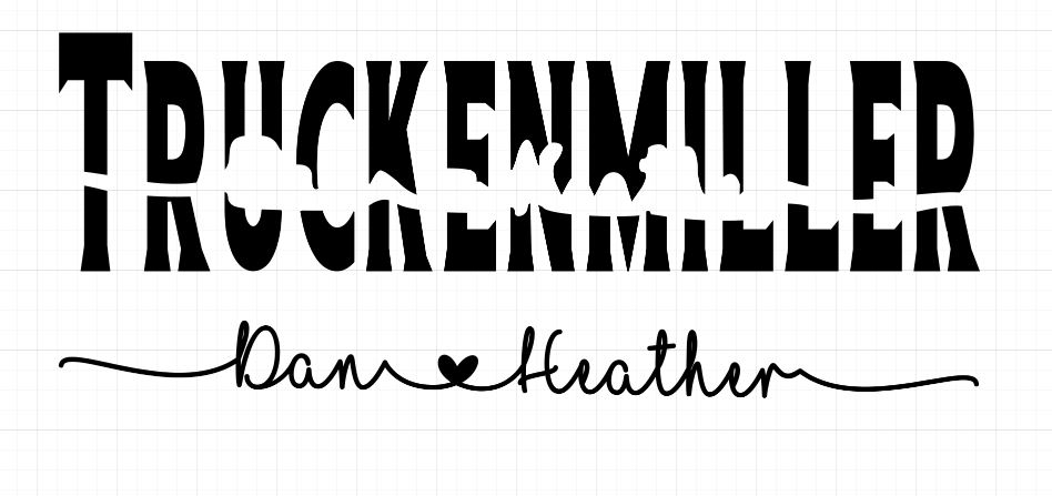 Fields Of Heather Knock Out Name Tile - A Cricut Project