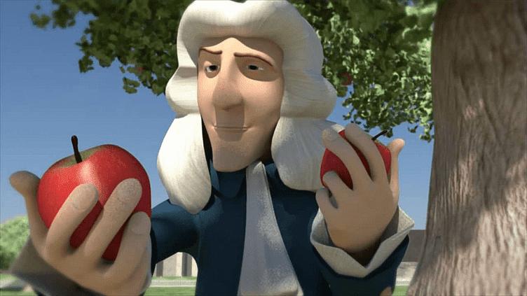 Isaac Newton sob a macieira que deu origem história