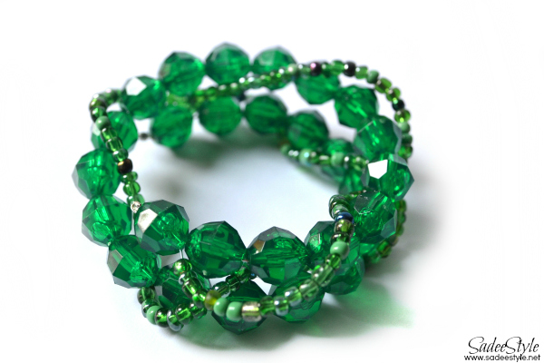 Abby Rose Green Emerlad beaded bracelet