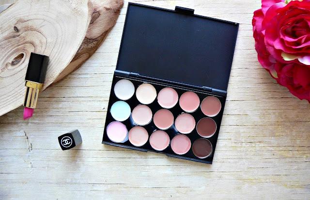 beauty, make-up, aliexpress, ebay, concealer, palette, colour, correcting, color, contour, shape, review, swatches,