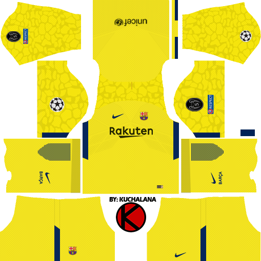 Barcelona Nike Kits 2017/2018 - Dream League Soccer - Kuchalana