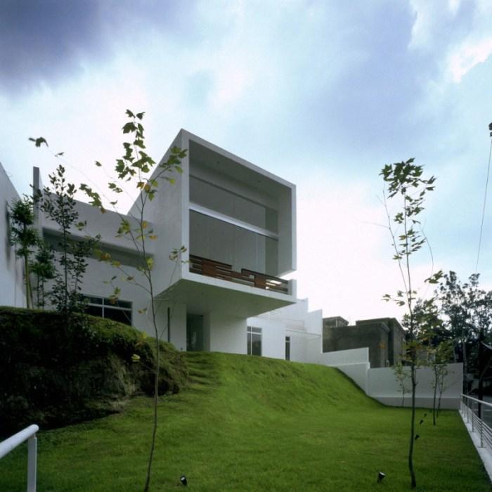 Hogares frescos casa cubo residencia estilo contemporaneo en zapopan por arquitectos agraz - Estilo arquitectura contemporaneo ...
