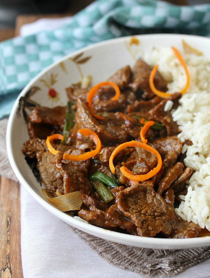 Stir-Fried Crispy Orange Beef