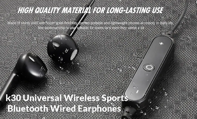Unboxing of k30 Universal Wireless Sports Bluetooth Wired Earphones