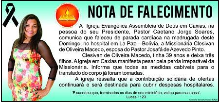 Avião da FAB fará transporte de família missionária caxiense ao Brasil