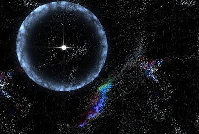 imagen ilustrativa de una ragafa de radio rápida emitida por una estrella
