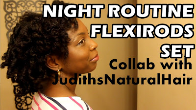 Night Routine for Flexirods Set on Natural Hair