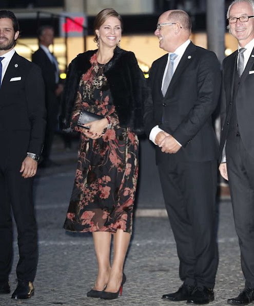 Princess Victoria wore Camilla Thulin dress, Princess Madeline wore By Malina Elsa fur jacket and Christian Louboutin pumps