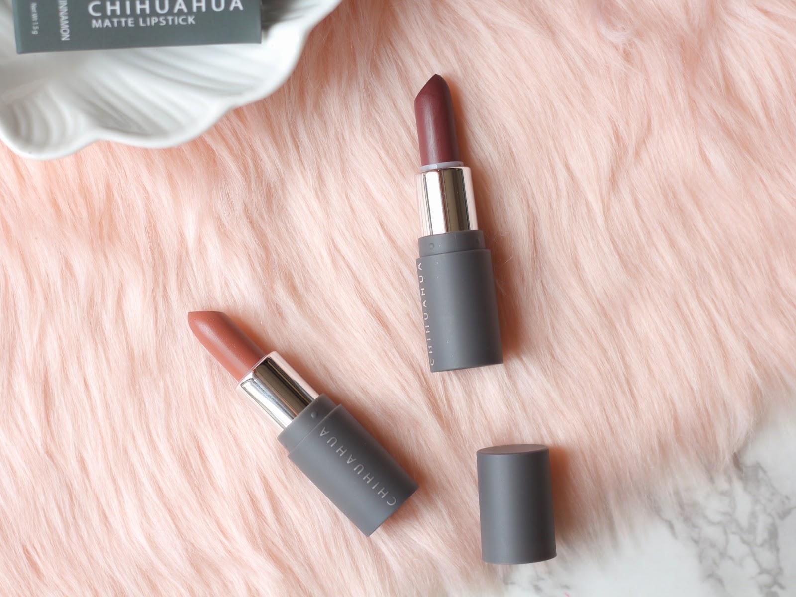 Chihuahua Cosmetics Lipstick Review Matte Cinnamon Creme Coco Swatch