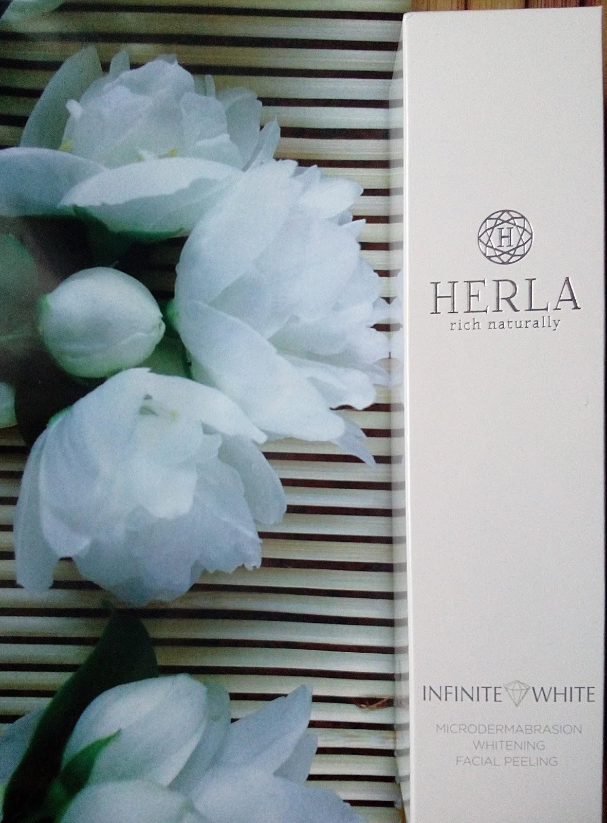 HERLA rich naturally reduktor niedoskonałości wybielający peeling do twarzy efekt mikrodermabrazji