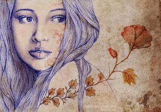 ilustracion rostro mujer