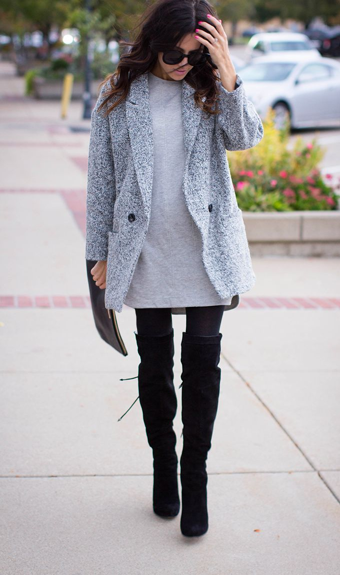 botas largas mujer 30 outfits con modelos sobre la rodilla zapatos botas botines y. Black Bedroom Furniture Sets. Home Design Ideas