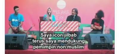 Beredar Video Zaskia Adya Mecca Dukung Ahok, Klarifikasi Icon Jilbab Ini Mengejutkan