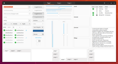 Ubuntu Communitheme gtk3 widget factory