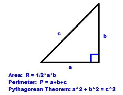 Eddies math and calculator blog right triangle finding the right triangle finding the dimensions knowing only area and perimeter finding a general formula ccuart Images
