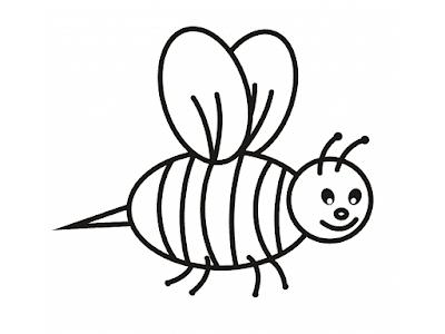 Gambar Mewarnai Lebah - 3