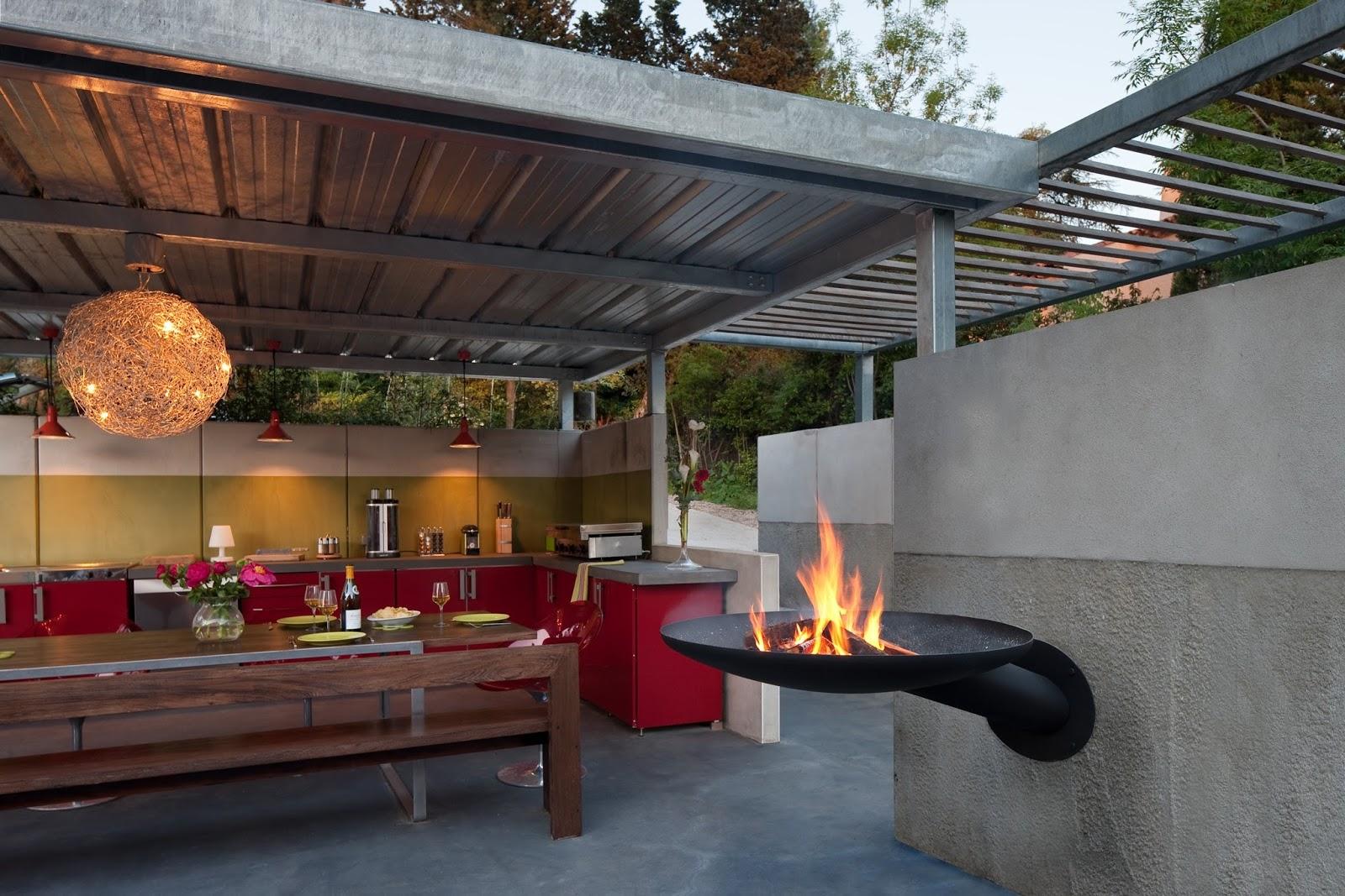 cuisine d ete barbecue. Black Bedroom Furniture Sets. Home Design Ideas
