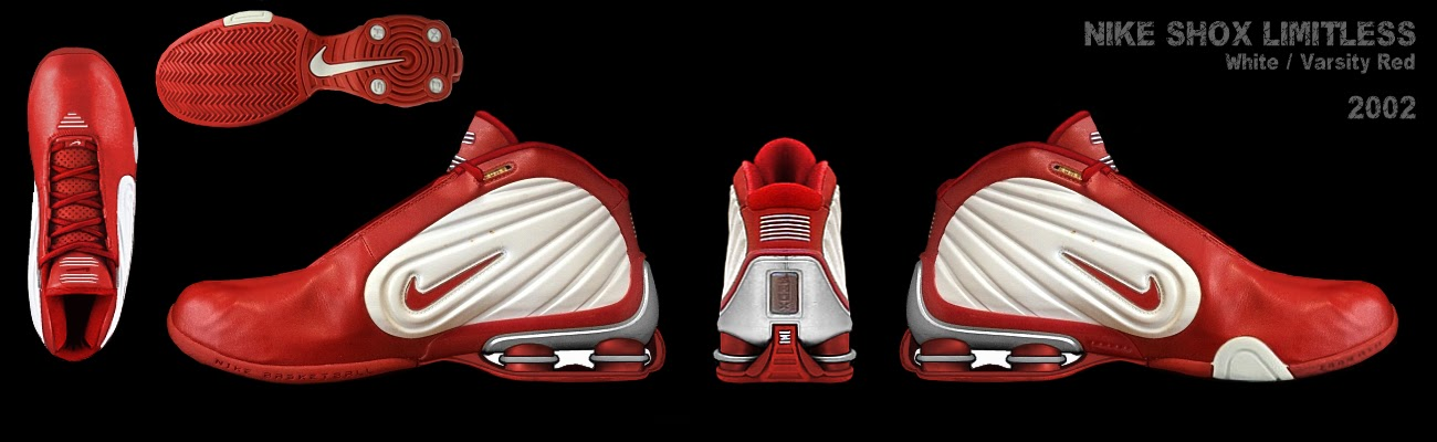 size 40 65ce6 7d5fa Nike Shox Limitless White Varsity Red