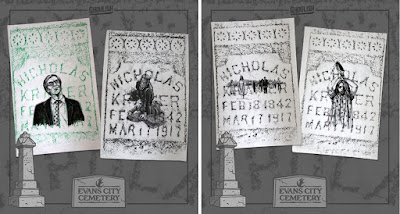 San Diego Comic-Con 2018 Exclusive Night of the Living Dead 50th Anniversary Tombstone Rubbings Original Drawings by Ghoulish Gary Pullin
