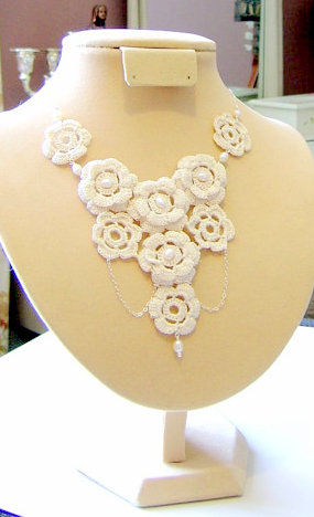 statement necklace crochet pattern crochet jewellery