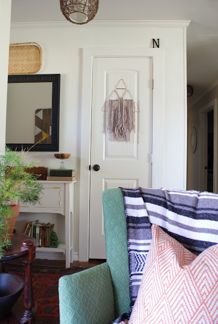 A wall hanging is such an inexpensive way to fill up space on your walls. They're easy to make, too!