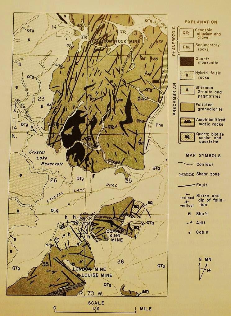 Kirwin Wyoming Map.Gold In Wyoming