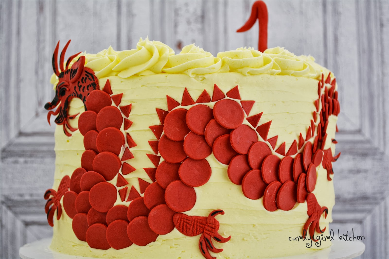 Curly Girl Kitchen Chinese Red Dragon Cake