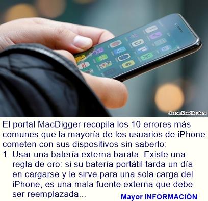 Los 10 errores que acaban con su iPhone sin que usted lo sepa