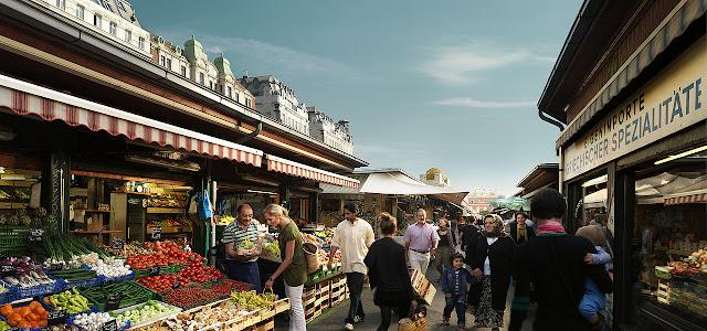 Passeio pelo Naschmarkt em Viena